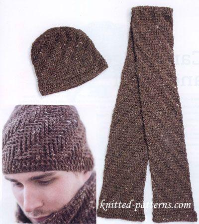 Free crochet men's hat and scarf patterns | Scarf crochet pattern .