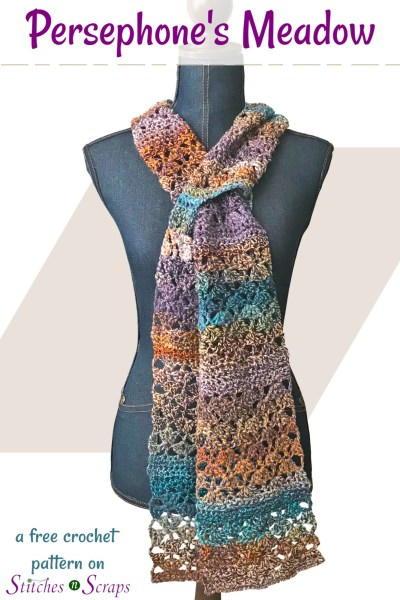Persephone's Meadow Keyhole Scarf Crochet Pattern | FaveCrafts.c