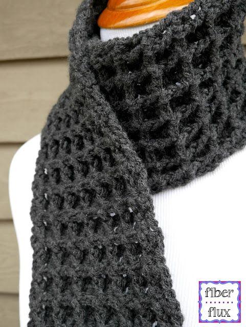 Waffle Stitch Crochet Scarf, Free Crochet Pattern + Video .