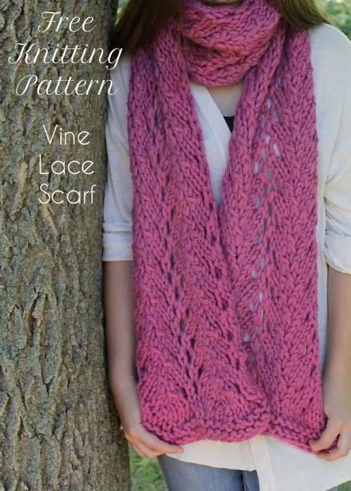 Vine Lace Scarf | AllFreeKnitting.c
