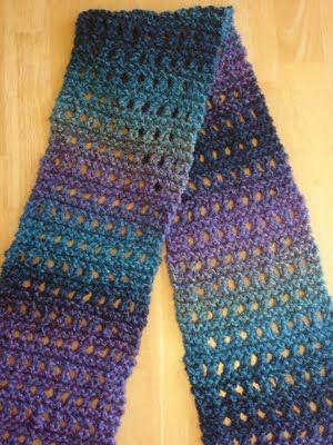 Free Knitting Pattern: Tweedy Eyelet Scarf! | Beginner knit scarf .