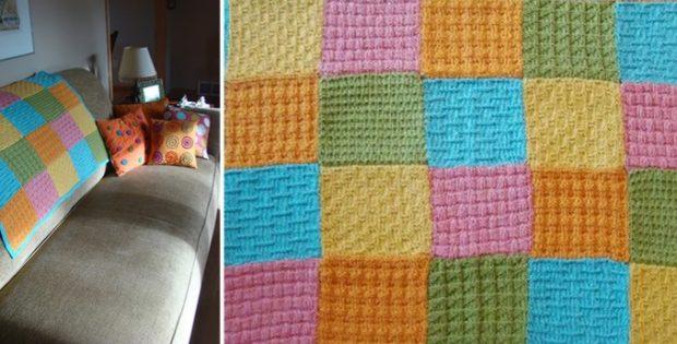 Dream Catcher Knitted Baby Blanket [FREE Knitting Patter