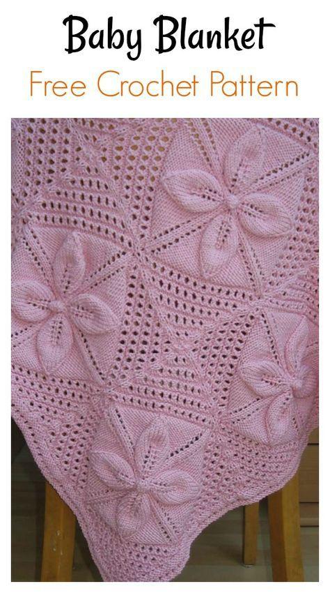Leaf Motifs Afghan Baby Blanket Free Knitting Pattern | Leaf .