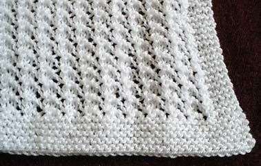 Knit Baby Blanket....this is my favorite easy pattern. Made one .