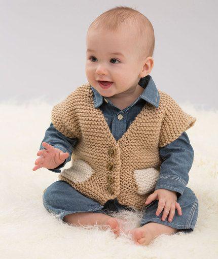 30 + Free V Neck Vest Knitting Patterns | Knit vest pattern, Baby .