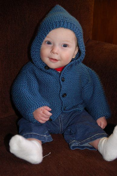 Free knitting pattern for Storybook Baby Hoodie | Baby boy .