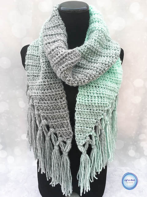 Crochet Mint-cicle Scarf - Free Pattern — Left in Kno