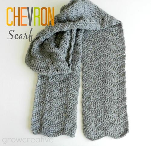 Gray Chevron Easy Crochet Scarf | AllFreeCrochet.c