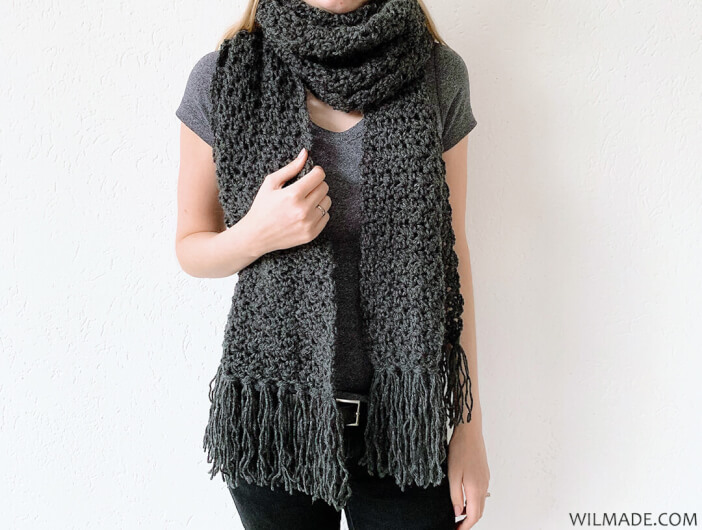 Fast crochet scarf: Awesome Andrea - free crochet pattern by Wilma