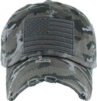 Amazon.com: H-212-AF0684 Distressed Vintage Patch Hat - American .