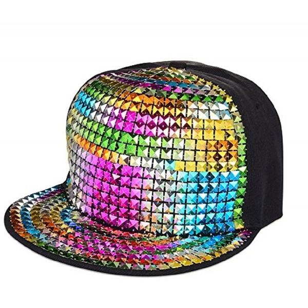 Adjustable Metallic Baseball Snapback Cap Hip-Hop Hats Funky Dance .