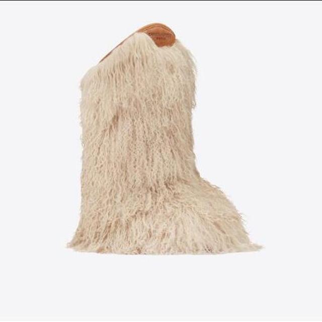 Women Snow Boots - Real Ostrich Furry Boots – Buzzy Tren
