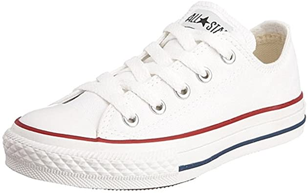 Amazon.com | Converse All Star Low Optical White Kids/Youth Shoes .