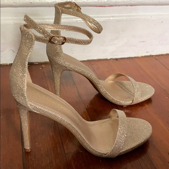 Shoes | Sparkly Gold Heels | Poshma