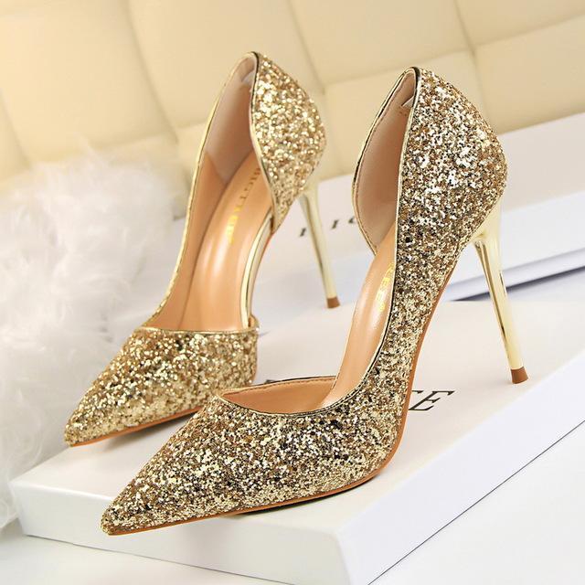 Women Pumps Bling High Heels Pumps Glitter Shoes Sexy Wedding .