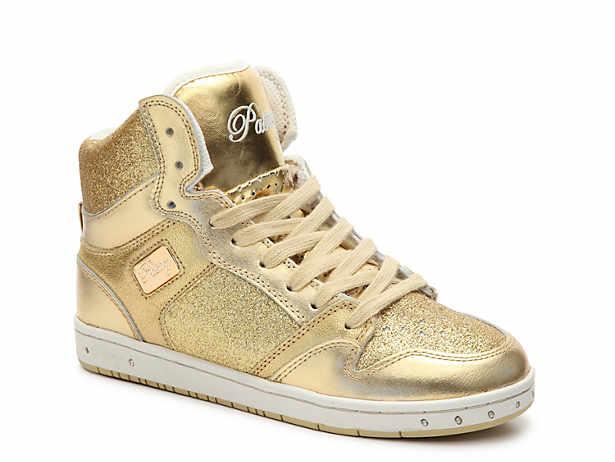 Women's Gold Sneakers   D