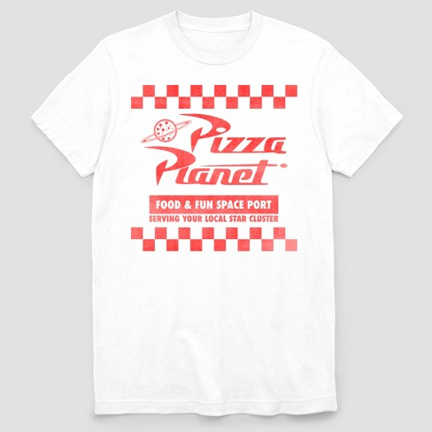 Men's Toy Story Pizza Planet Short Sleeve Graphic T-Shirt - White .