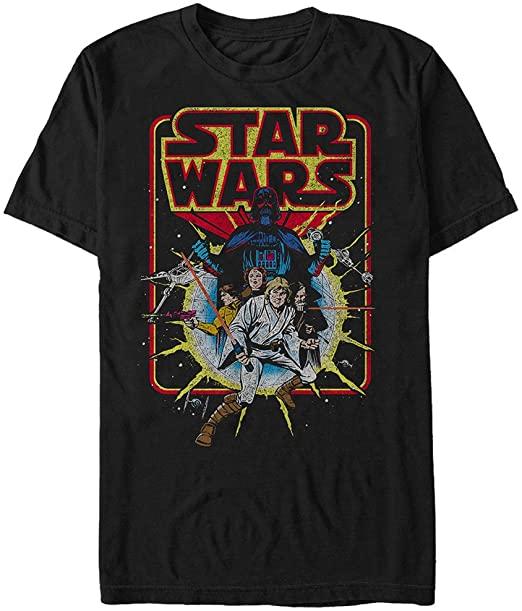 Amazon.com: Star Wars Men's Old School Comic Graphic T-Shirt: Clothi