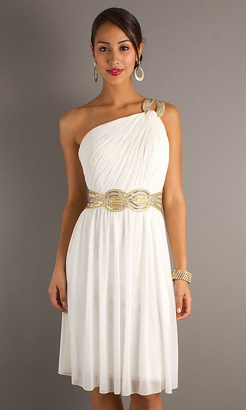 One Shoulder Grecian Short Dress. I cant believe I actually find .