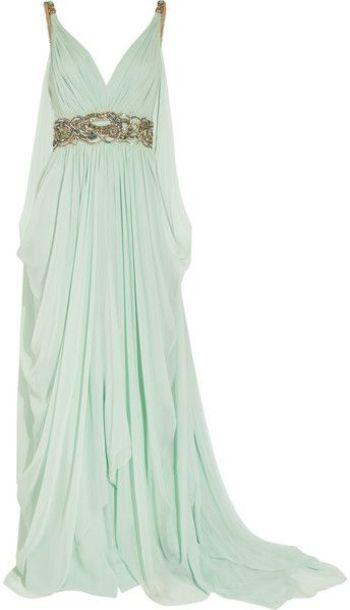 dress, prom dress, seafoam, greek, grecian dress, military ball .