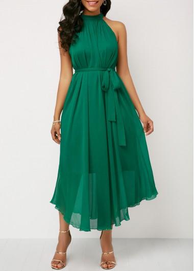 Asymmetric Hem Black Belted Dress and Cardigan   liligal.com - USD .