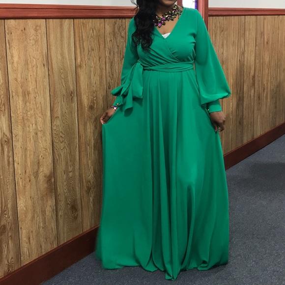 Dresses | Kelly Green Maxi Dress | Poshma