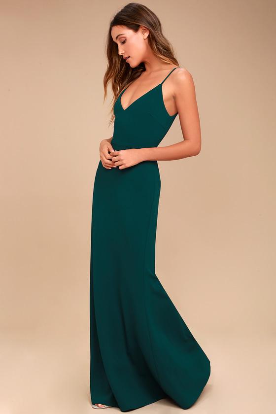 Sexy Forest Green Maxi Dress - Mermaid Maxi Dre