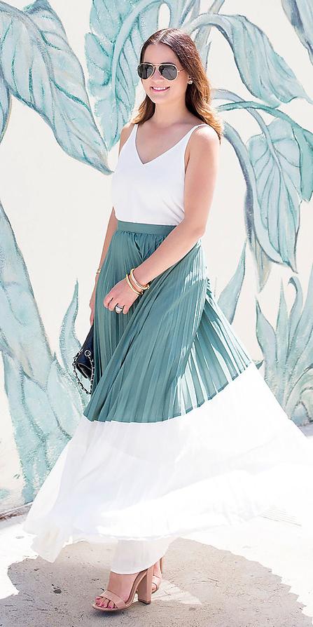 White maxi skirts | HOWTOWEAR Fashi
