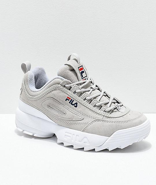 FILA Disruptor II Premium Suede Grey Shoes | Zumi