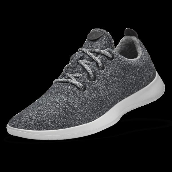 Men's Wool Runners - Natural Grey (Light Grey Sol