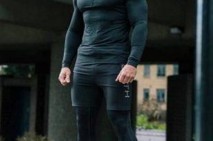 Men Gym Clothes Man Compression Set 3-pieces | Mens workout .