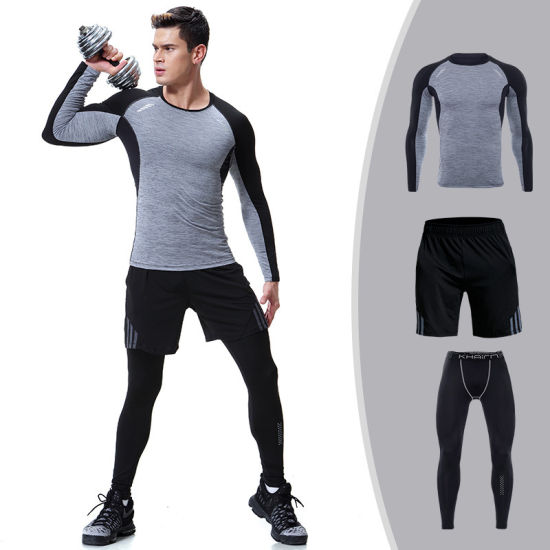 Three Piece Suits Training Workout Clothes Gym Wear Mens .