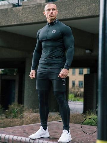 Men Gym Clothes Man Compression Set 3-Pieces | Gym outfit men .