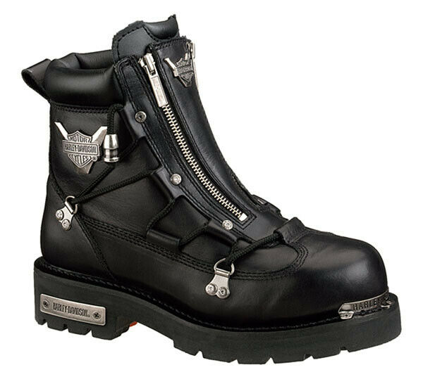 Harley-Davidson Women's Black Leather Motorcycle BOOTS D83642 9 .