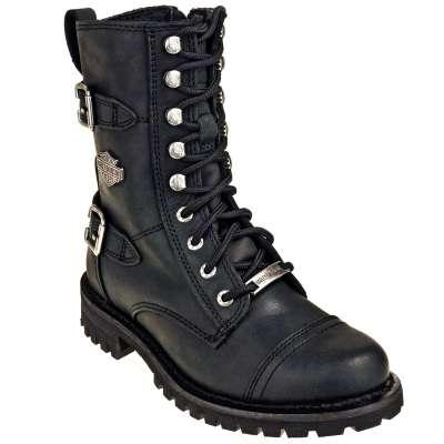 Harley Davidson Boots: 83853 Side Zip Women's Black Balsa .