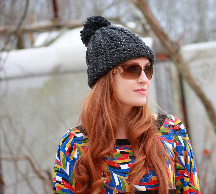 3 Hour Chunky Ribbed Hat [knitting pattern] - Gina Miche