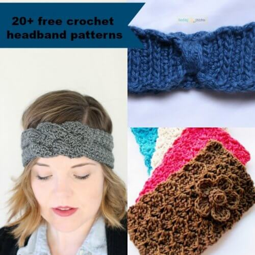 20+ Free and Easy Crochet Headband Patterns | jennyandted