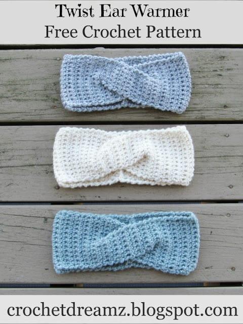 How to Crochet a Quick Twist Headband or Earwarmer, A Free Crochet .