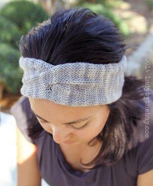 Twisted Headband Knitting Pattern | AllFreeKnitting.c