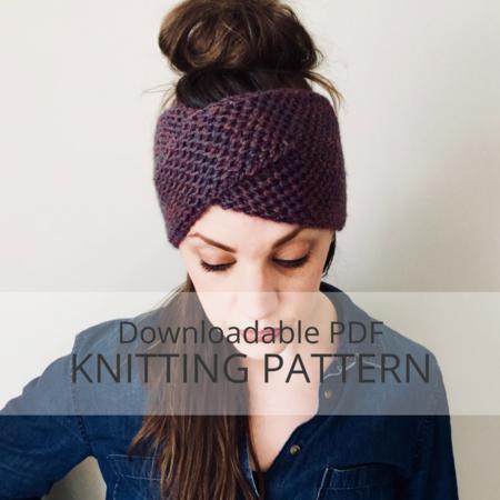 WRECKHOUSE Honeycomb Brioche Stitch Headband Knitting Pattern .