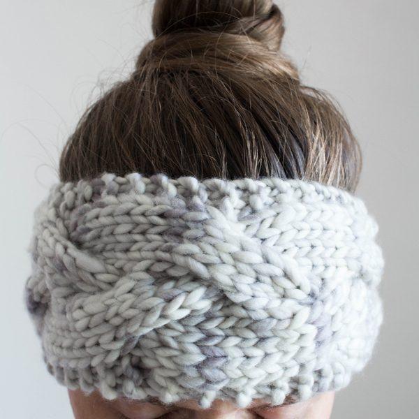 GOODNESS : Braided Cable Headband Knitting Pattern - Brome Fiel