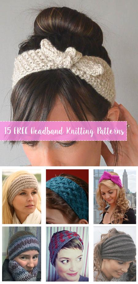 15 FREE Knitting Headbands Patterns | Knit headband pattern .