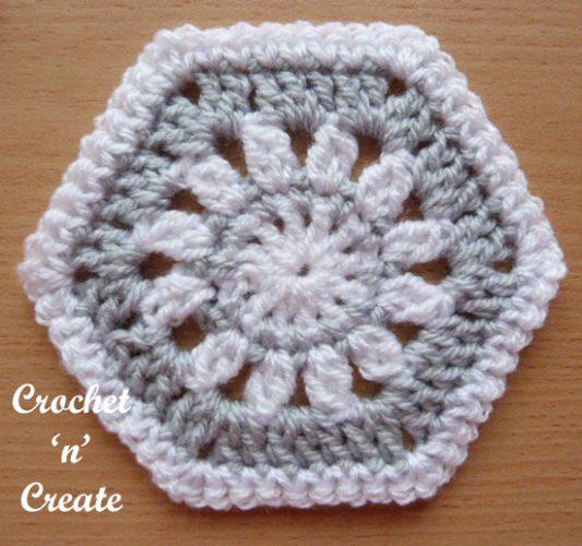 Hexagon Motif Free Crochet Pattern - Crochet 'n' Create - Crochet .