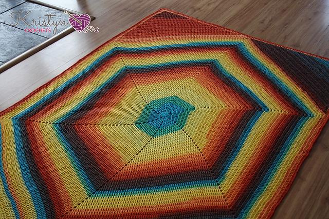 The Hexagon Squared Blanket Free Crochet Pattern | DailyCrochetIde