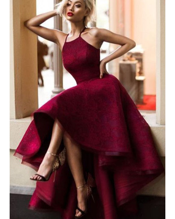 High Low Prom Dress, Burgundy Prom Dresses Ball Gowns, Prom .