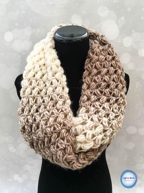 Coffee Bean Infinity Scarf Crochet Pattern — Left in Kno