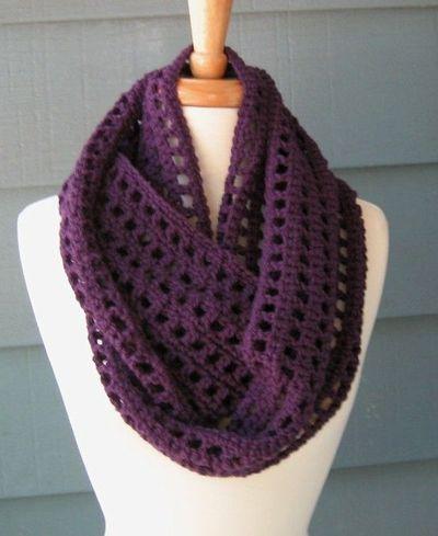 Infinity Scarf Patterns To Crochet | Cachecol de crochê, Tricô e .