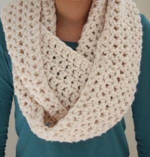 Super Quick n Easy Infinity Scarf: free crochet pattern by lara .