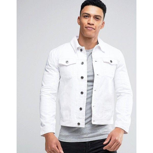 Brave Soul Denim Jacket ($43) ❤ liked on Polyvore featuring men's .