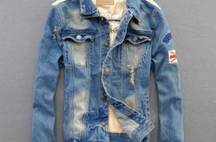 ripped denim jackets for men.   Denim jacket, Jean jacket outfits .